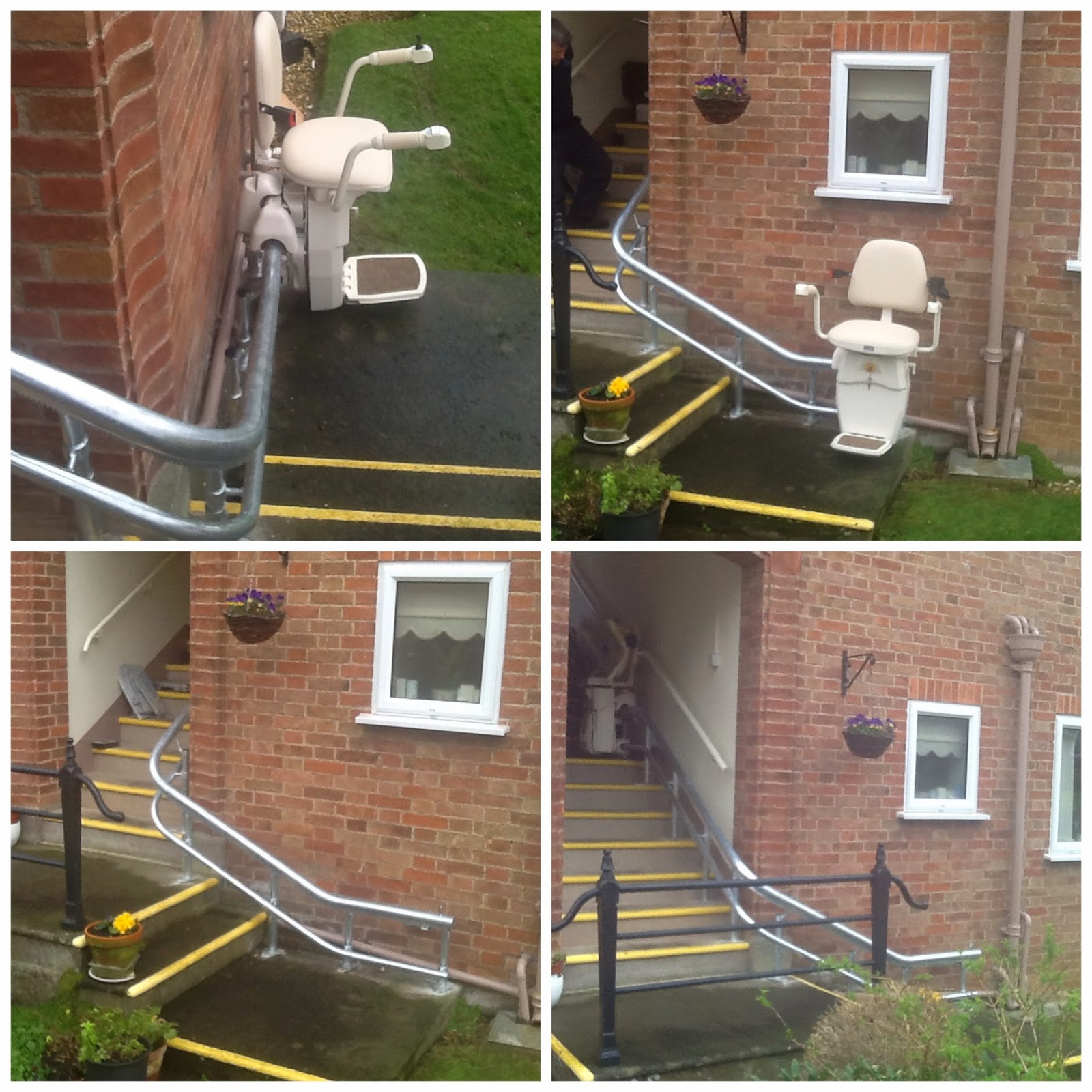 Hawle external stairlift installed by Dolphin Lifts