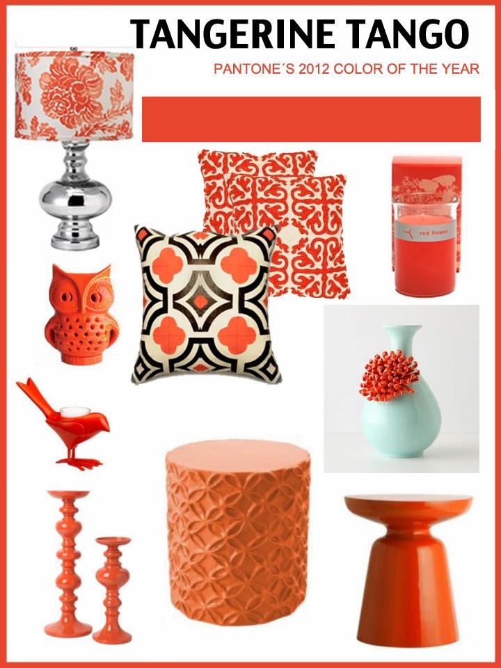 tangerine tango, pantone color, design