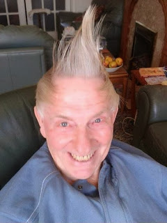 funny picture: grandad with straight style
