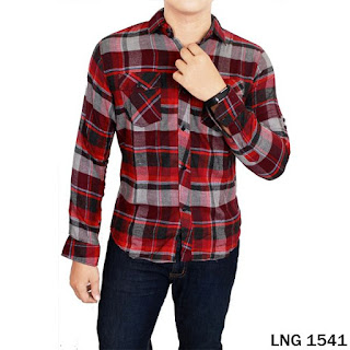 Baju Kemeja Flanel Laki-laki