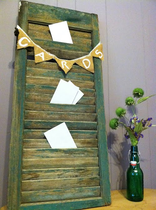 Old Shutter Wedding Card Holder