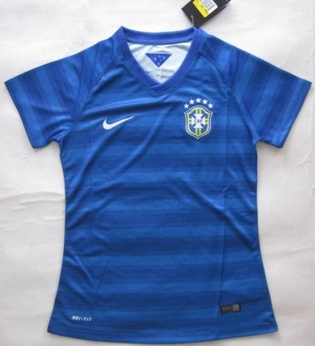 NEW STOCK!! JERSEY BRAZIL AWAY LADIES  OFFICIAL WORLD CUP 2014