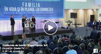 VIDEO: Familia Bodnariu la Conferinţa pentru familii (Rugul Aprins Toflea) de la Poiana Braşov