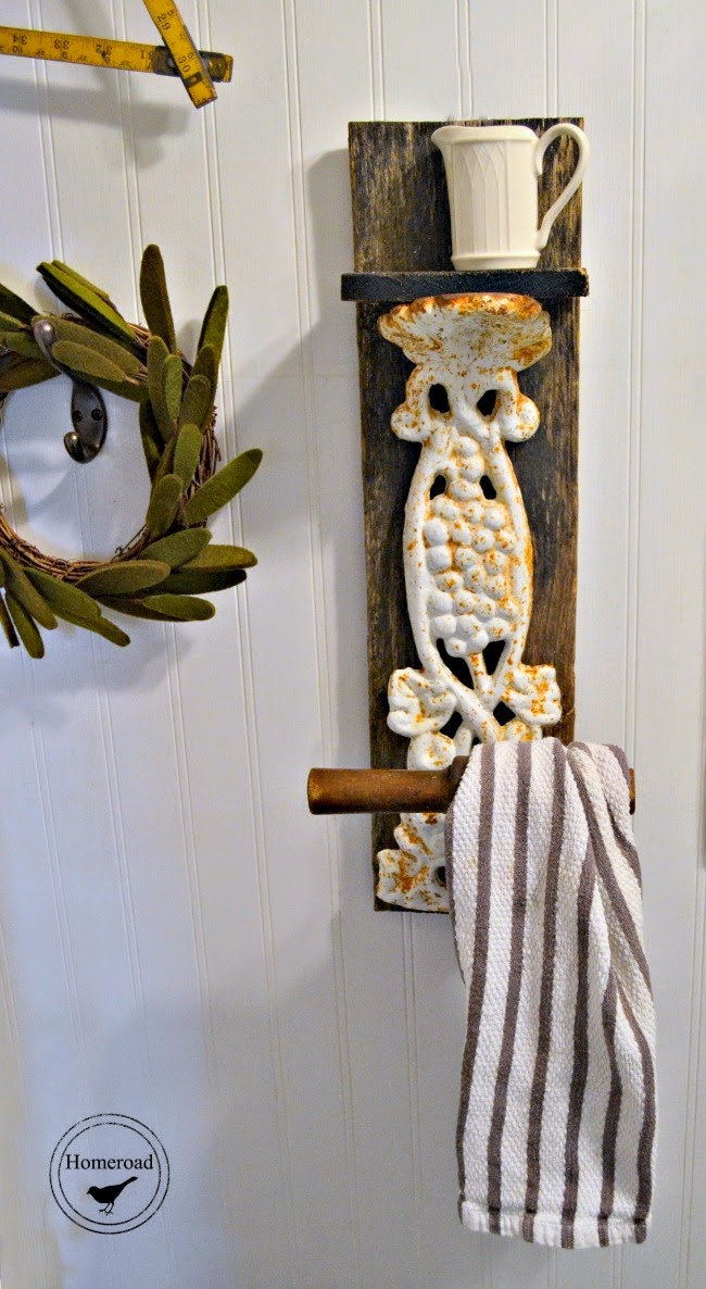 a unique repurposed towel hook www.homeroad.net