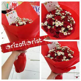 toko bunga tangan surabaya, jual mawar merah surabaya