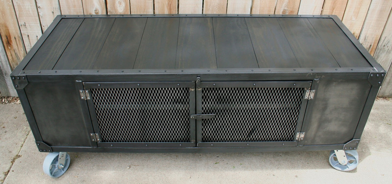 Real Industrial Edge Furniture Llc Custom Industrial Scrap Metal Cabinet