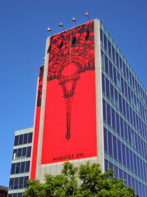 Giant As Above So Below inverted Eiffel Tower billboard