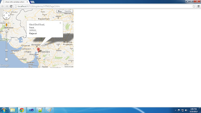 How To Show Info Window in Google Map When Click on Marker in Asp.net Website Using JavaScript in HTML And C# ASP.net