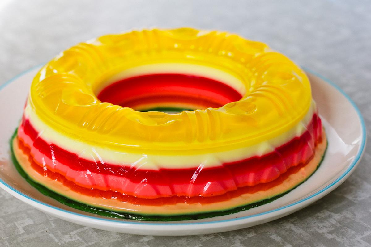 JelloADay Rainbow Ribbon Jello Salad