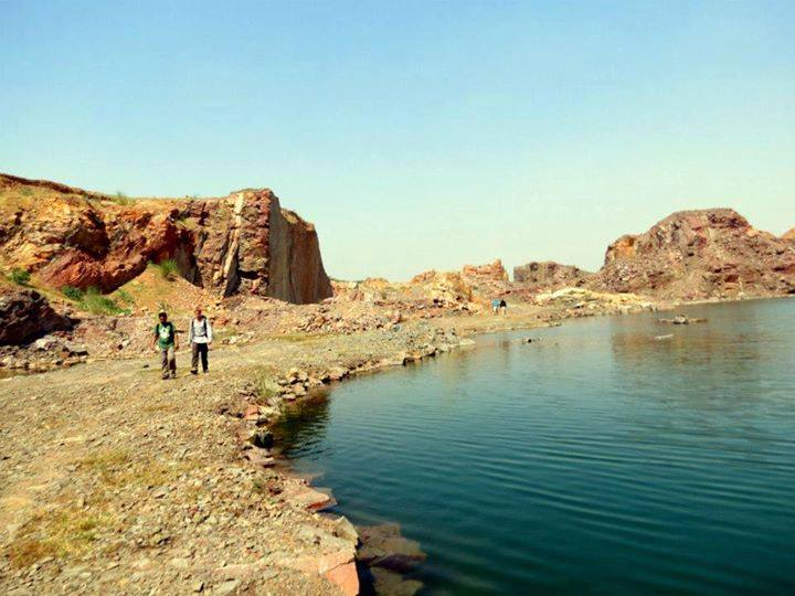 Pristine lakes in the Aravallis near Delhi