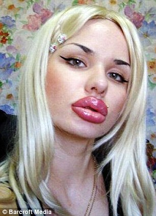Giant Lips Attack Woman!