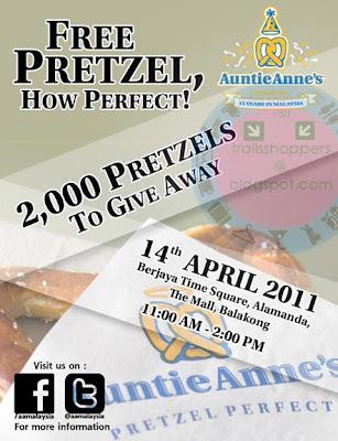 Auntie Anne's FREE Pretzel Day