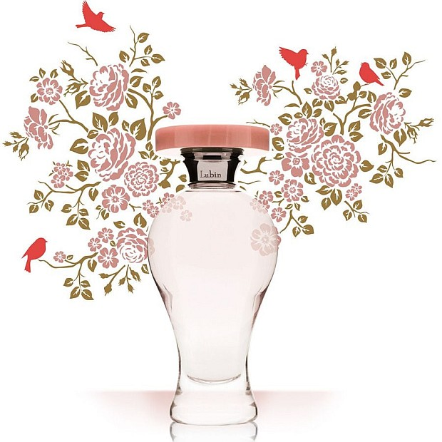 Lubin Grisette - grafika promująca perfumy