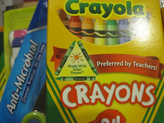 Crayons made with solar power