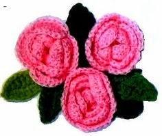 flores em croche em croche com receita