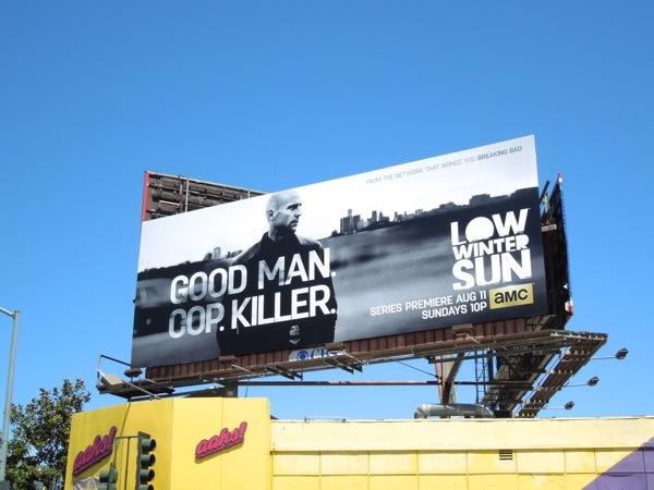 Low Winter Sun series premiere TV billboard