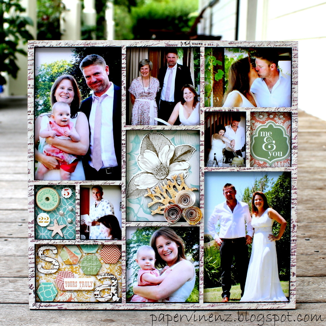 Wedding Frame: PaperVine: Wedding Frame (Pink Paislee) And WINNERS