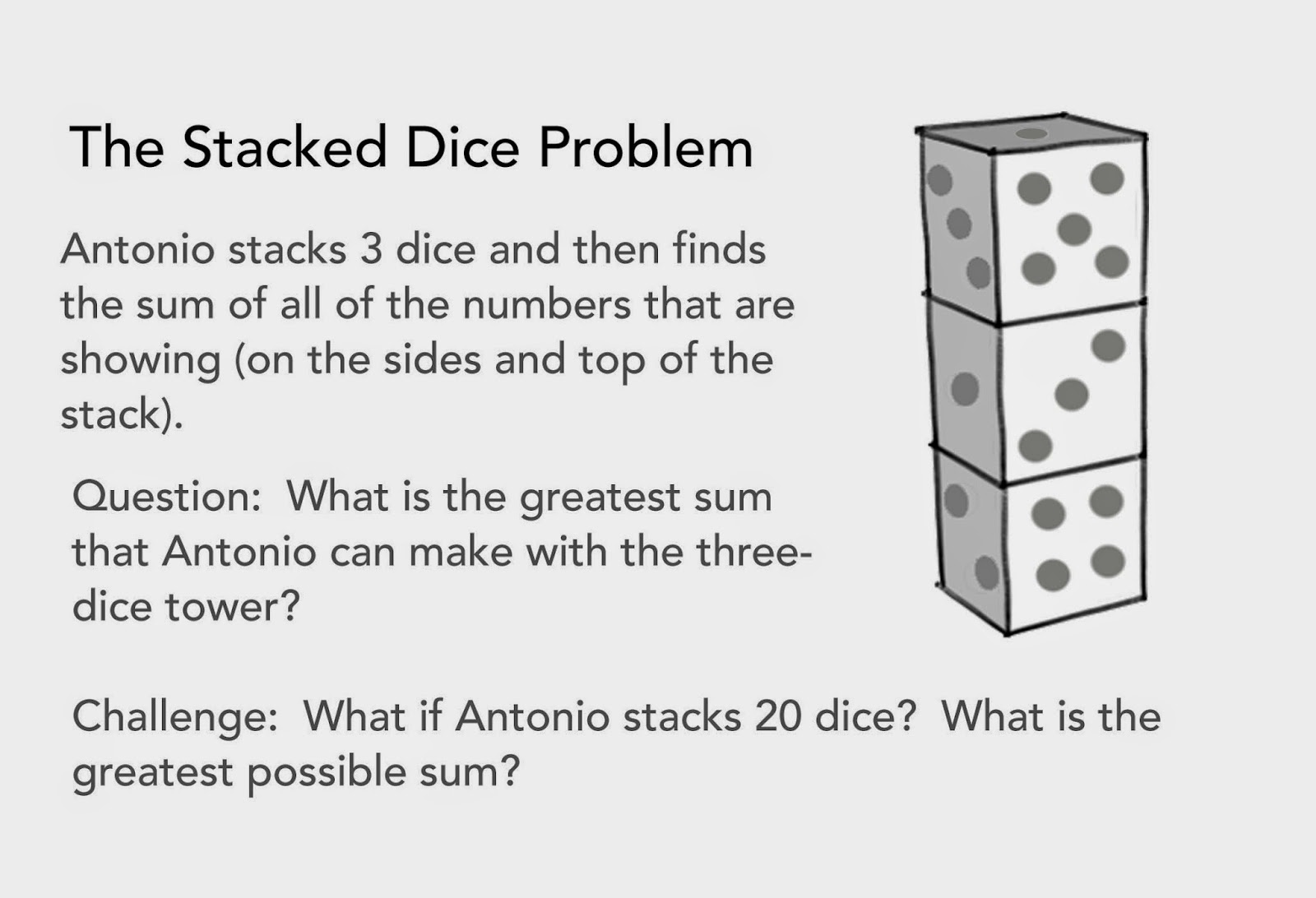 1001 Math Problems: Stacked Dice