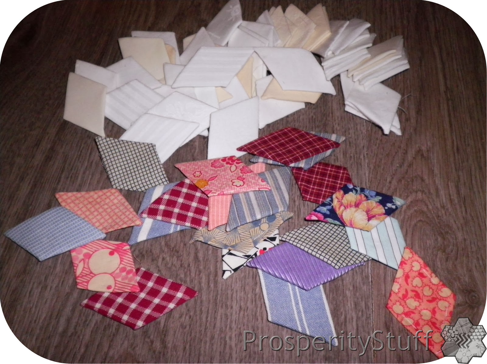 ProsperityStuff Quilts - 60-degree diamonds for EPP Stars