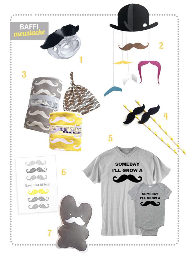 bimbi tutti baffi e moustache mania per la festa del papa'