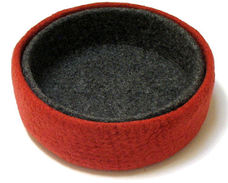 felted wool bowls, nesting