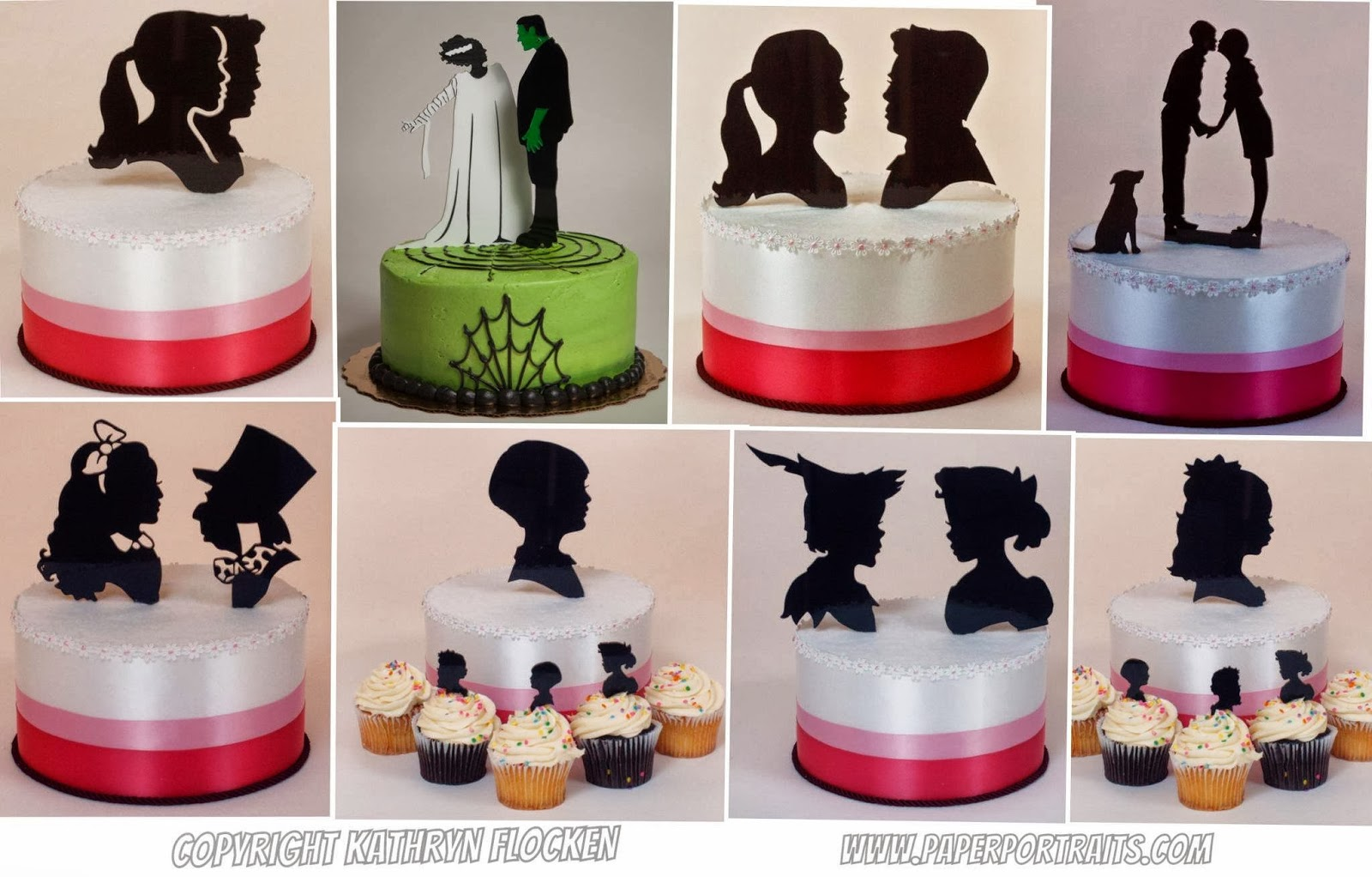 Custom Wedding Cake Topper Silhouettes And The ULTIMATE Silhouette Set
