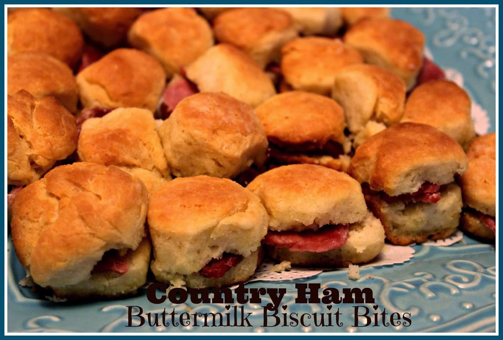 Sweet Tea and Cornbread: Country Ham Buttermilk Biscuit Bites!