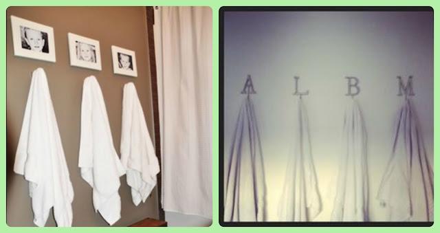 Organizar o banheiro | Penduradores