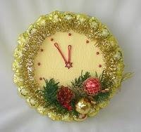 часы из конфет на новый год
