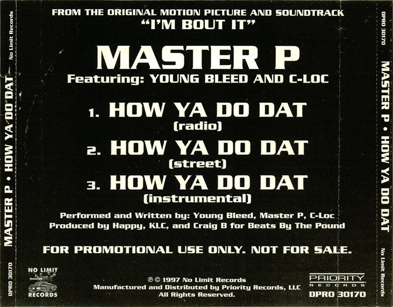 Master p how ya do dat promo cd single 1997