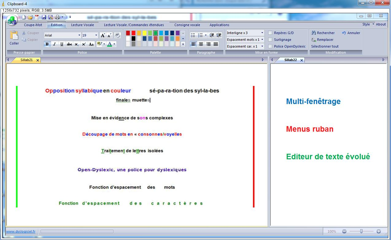 Dys vocal logiciel pour dyslexie et dyspraxie visuo spatiale for Logiciel pou