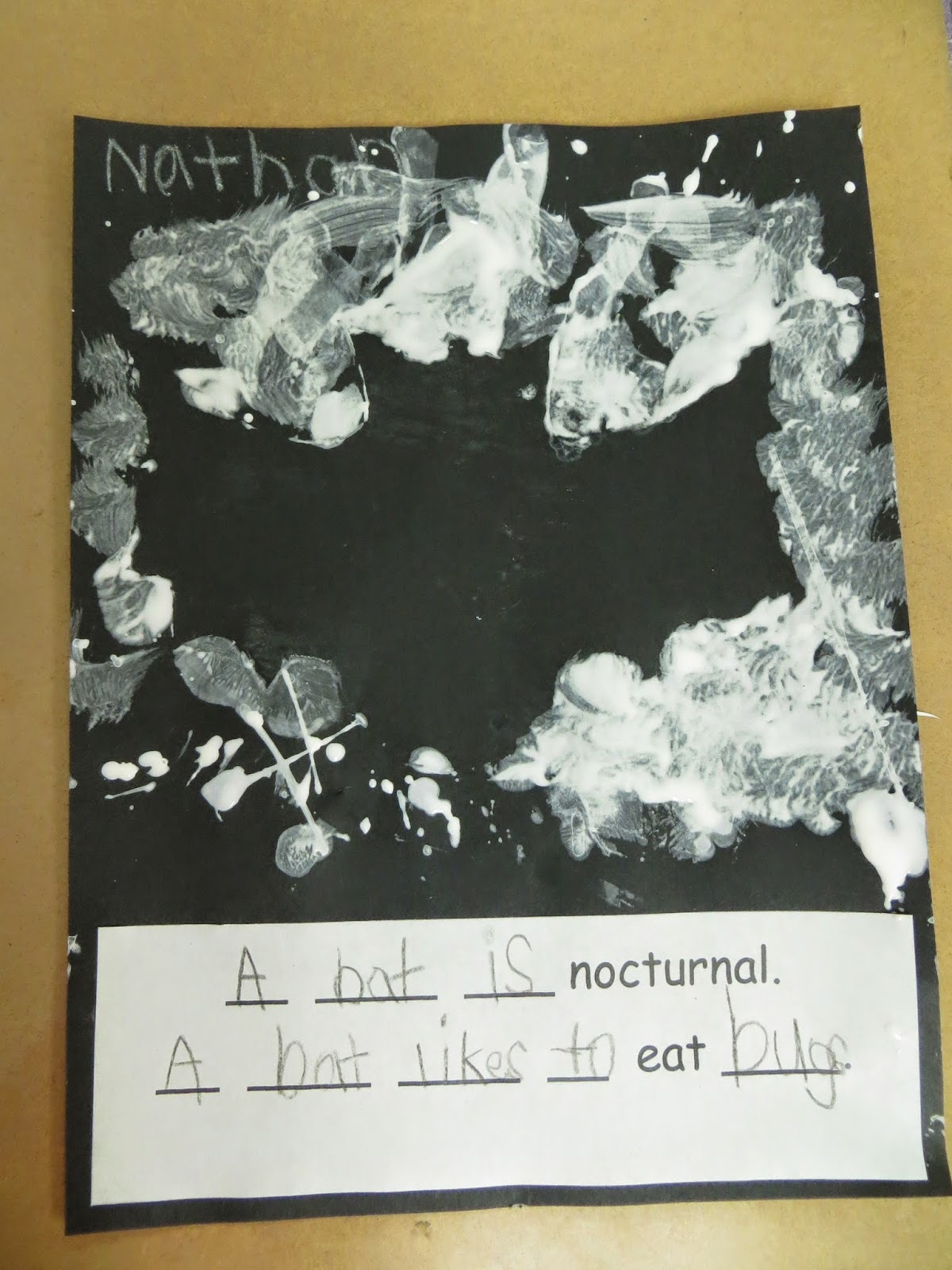 Science/Art/Writing bat activities