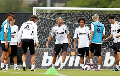 Real Madrid during pre-season 2011-2012