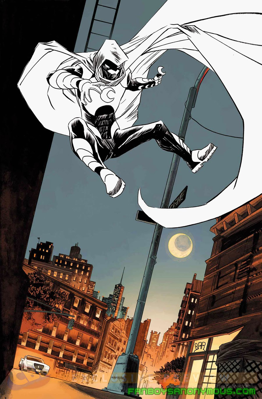 Read Moon Knight from your smart phone or tablet on Comixology or the Marvel Comics app