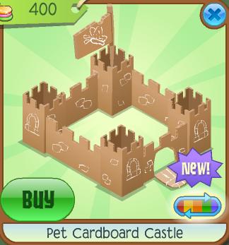 Animal Jam Frozen Pet Cardboard Castle