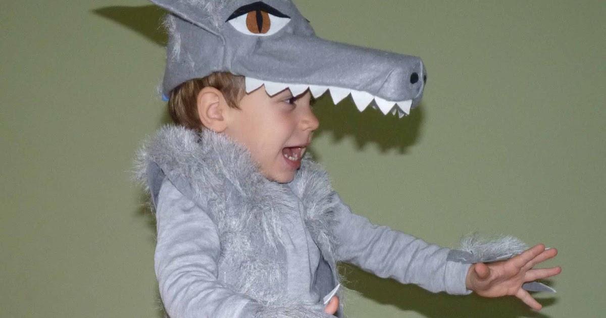 Las cositas de marga disfraz de lobo hecho a mano para for Disfraz de lobo feroz