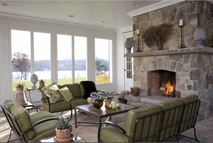 Fieldstone Fireplace - One of the fireplace options I love