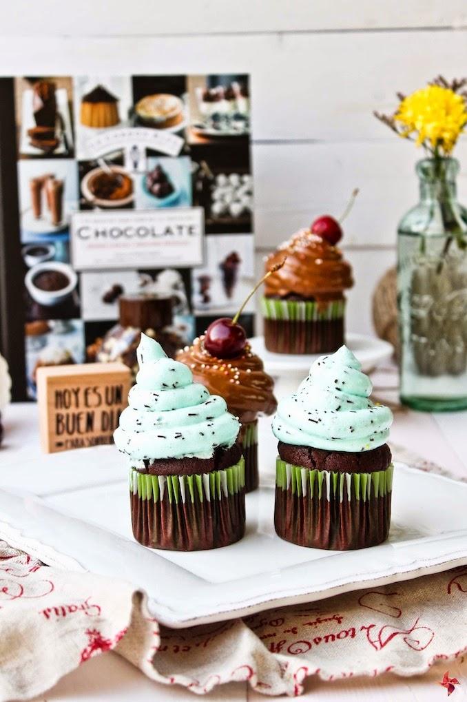 Receta de cupcakes de chocolate sin azucar, sin huevo, sin lactosa