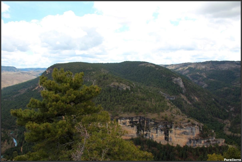 Vista de Belvalle (Beteta) desde la Muela De Utiel