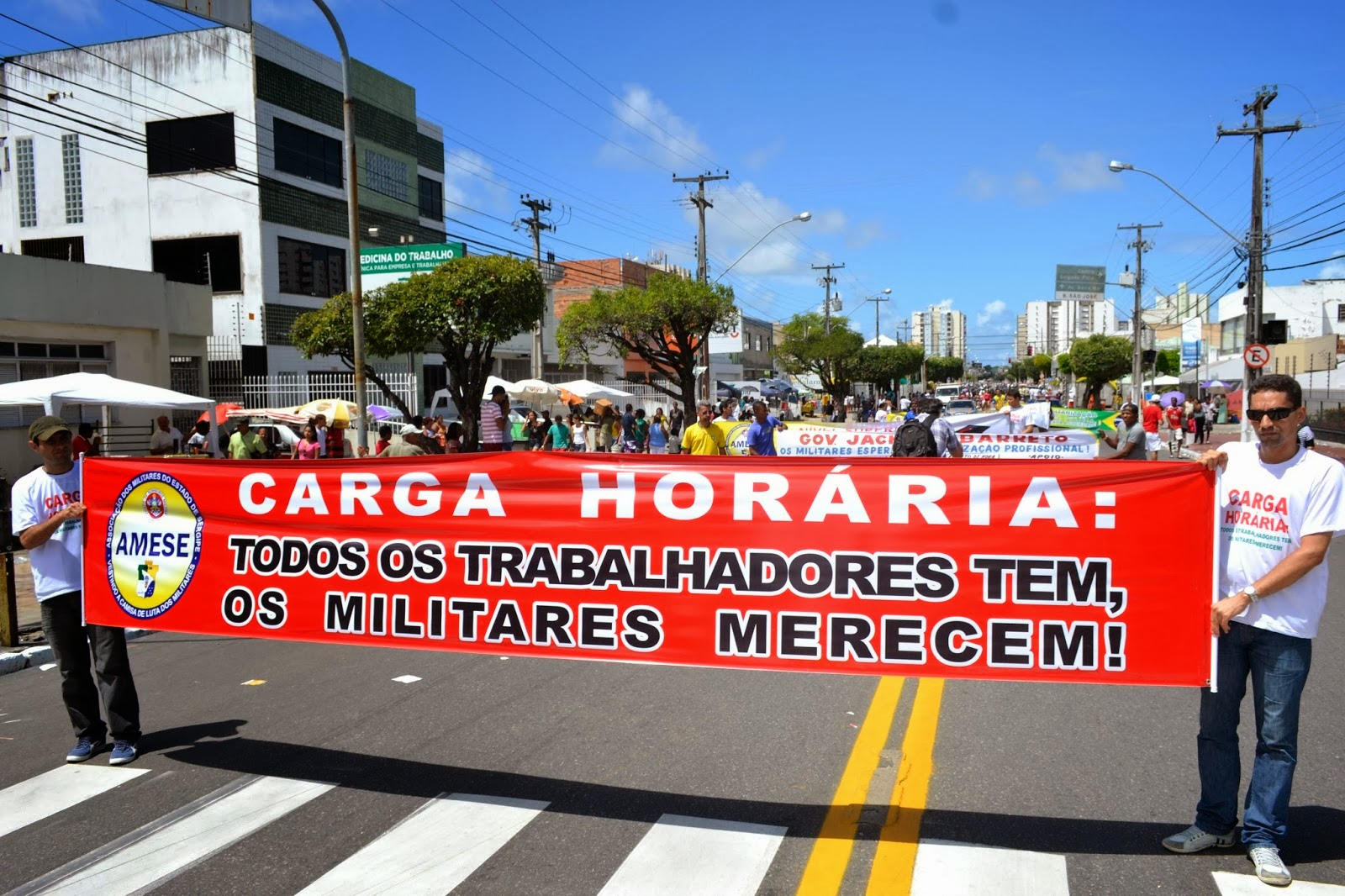 AMESE NA LUTA PELA DEFINIÇÃO DE CARGA HORÁRIA DURANTE O GRITO DOS EXCLUÍDOS