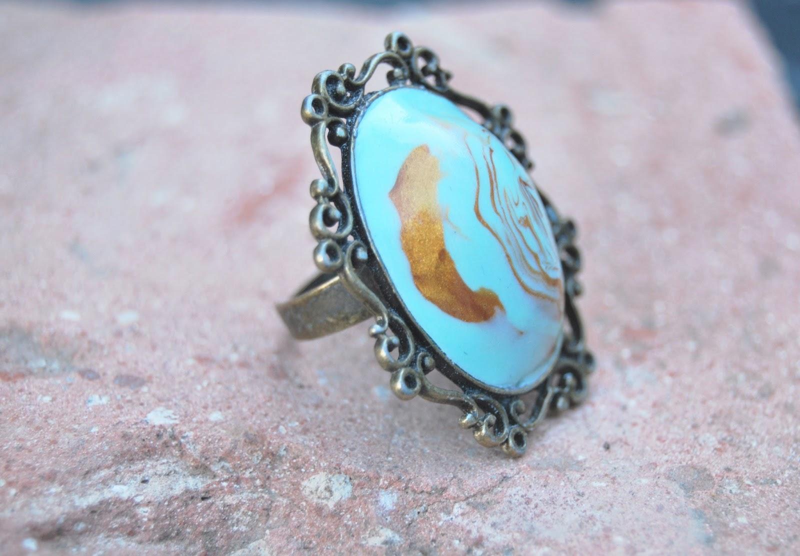 anillo cenefa oro envejecido