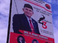 Mirip Lambang PKI Gambar Palu dan Arit, Baliho HUT PDIP di Tasikmalaya Dicopot