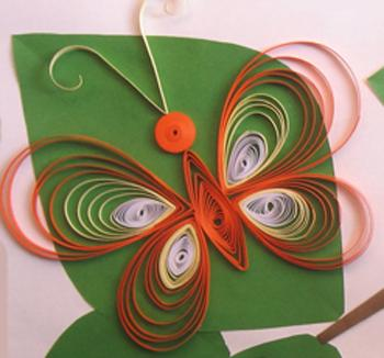 Easy paper quilling butterfly for kids crafts and arts ideas for Paper quilling art projects