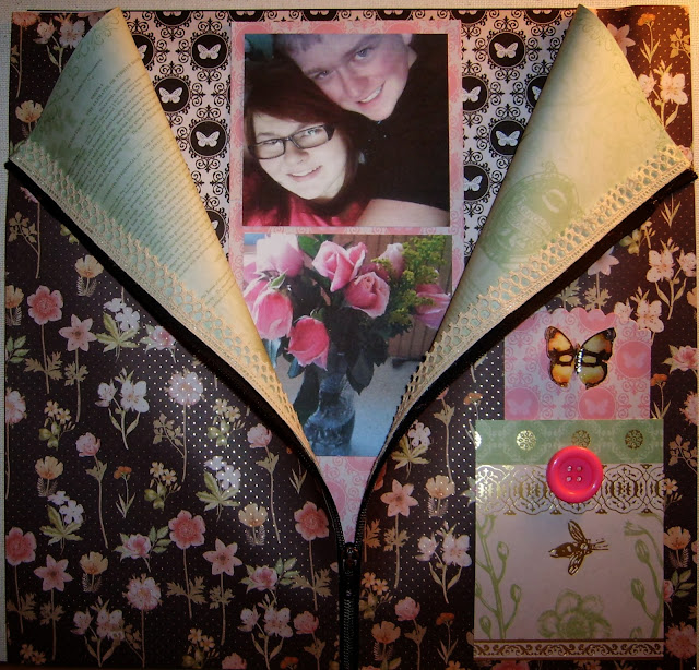 Scrapbook Layout Zipper-Pocket