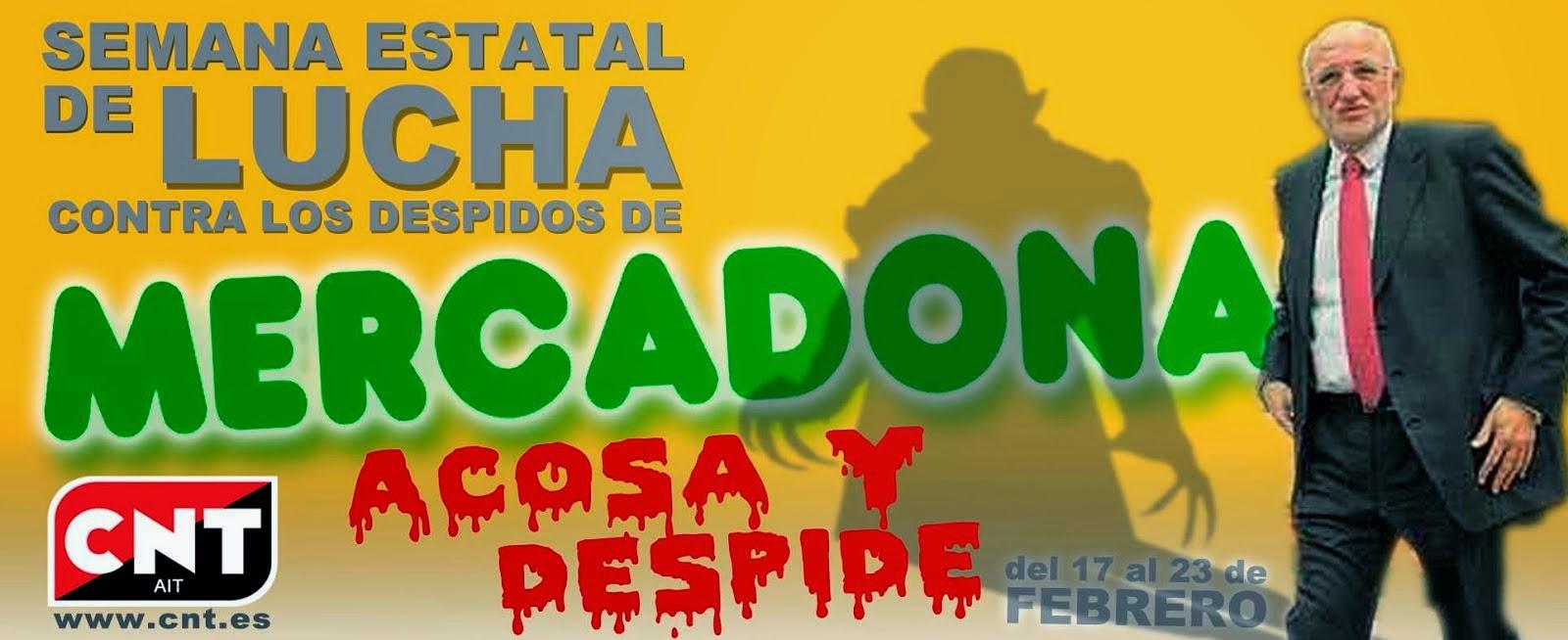 Setmana de lluita contra Mercadona, del 17 al 23 de Febrer