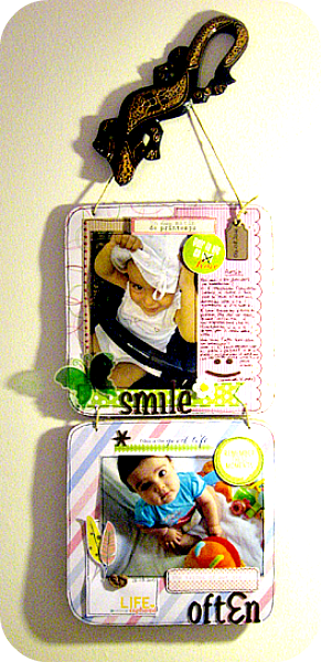Quadretto DIY con base in cartone riciclato - DIY little frame with basis made of recycled cardboard