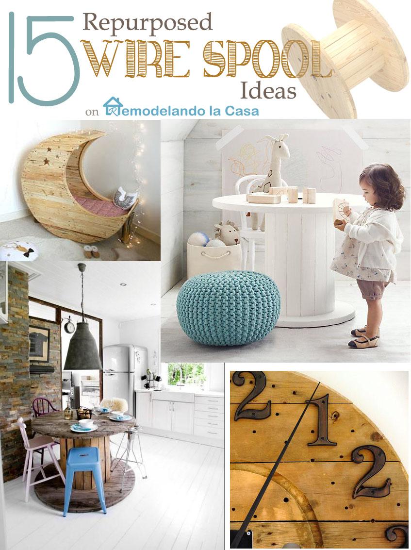 15 Repurposed Wire Spool Ideas - Remodelando la Casa