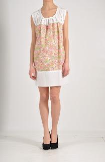 abito corto, abiti estivi, estate 2012, abiti colorati, marrone, bianco