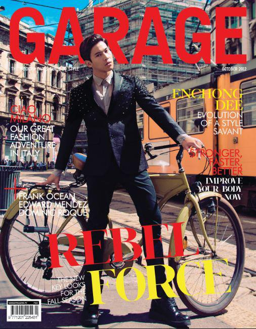 Enchong Dee Covers Garage Magazine October 2012 Issue