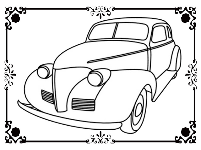 Classic Car Coloring Sheets